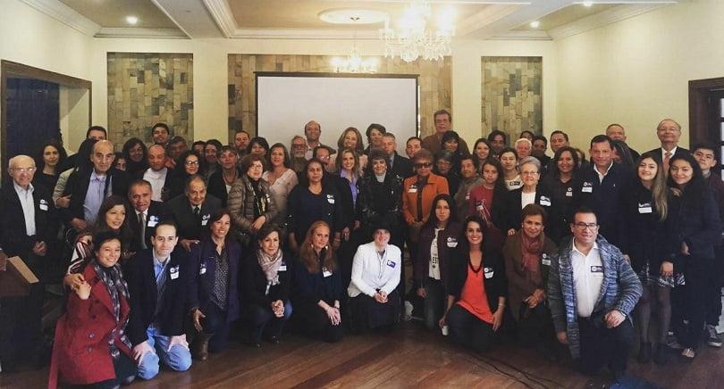 Grupo de líderes provida y ciudadanos que integran Vida por Colombia/Cortesía.