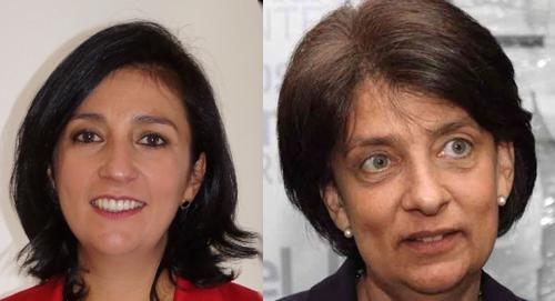 Magistradas Gloria E. Ortiz y Cristina Pardo.