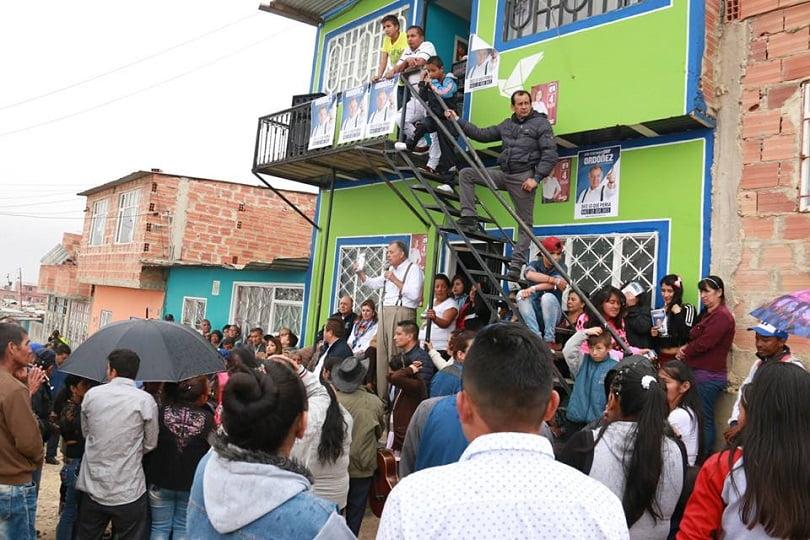 Ordóñez haciendo campaña en Ciudad Bolívar/Tomada de: http://ordonezpresidente.co