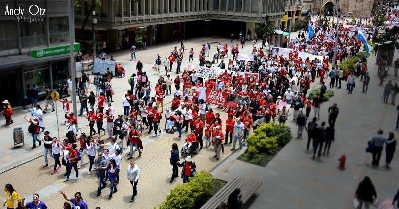 Marcha nacional por la Vida en mayo de 2017 en Bogotá.