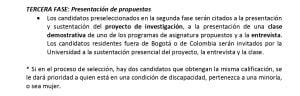 Convocatoria Docente U del Rosario.