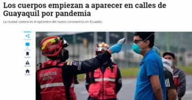 El Tiempo En Guayaquil los cuerpos son dejados en las calles