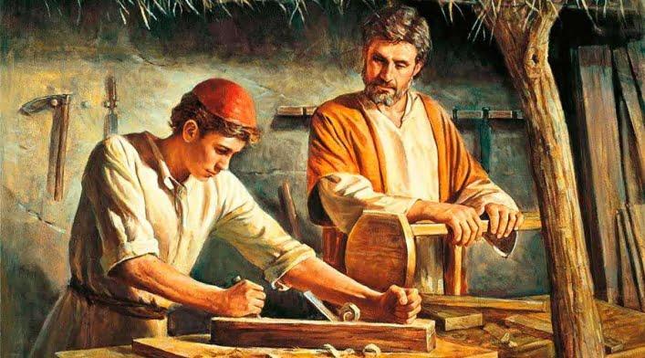 En el taller de José