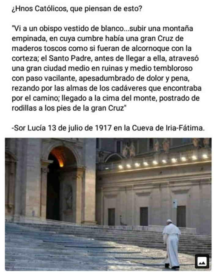 Fake Fátima y el Papa