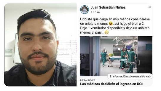 Médico amenaza negar respiradores a uribistas 1