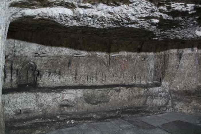 Celda en la que Jesús estuvo preso en Jerusalén