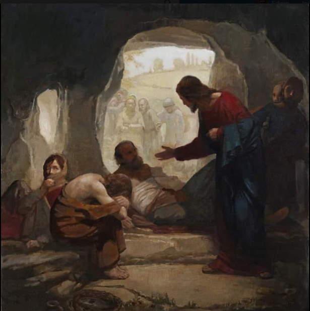 Jesús entre los leprosos