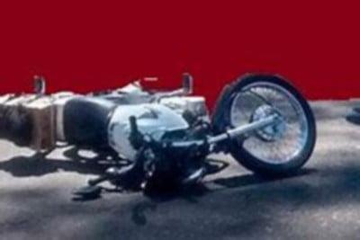 Motocicleta accidentada