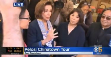 Pelosi china town tour