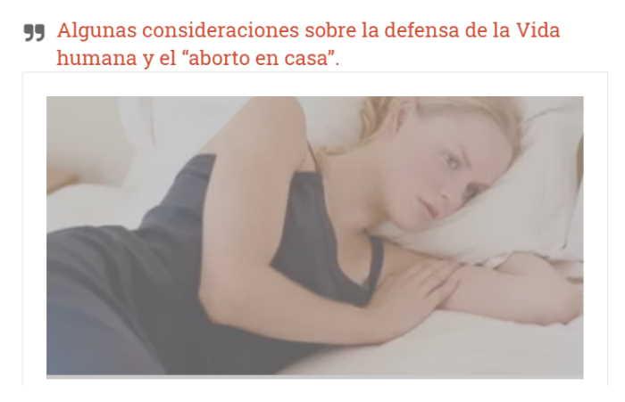 Artículo aborto en casa
