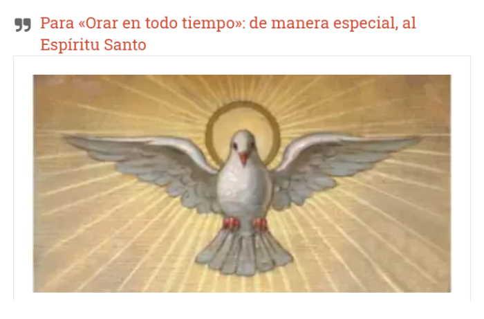 Novena al Espíritu Santo