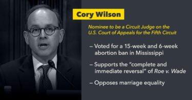 Cory Wilson anti abortion judge