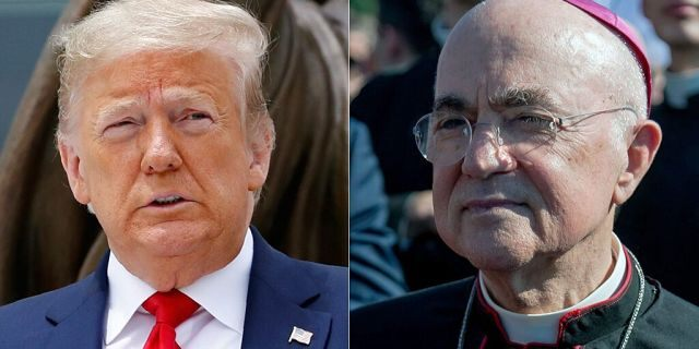 Donald Trump Carlo Maria Vigano AP Getty Images