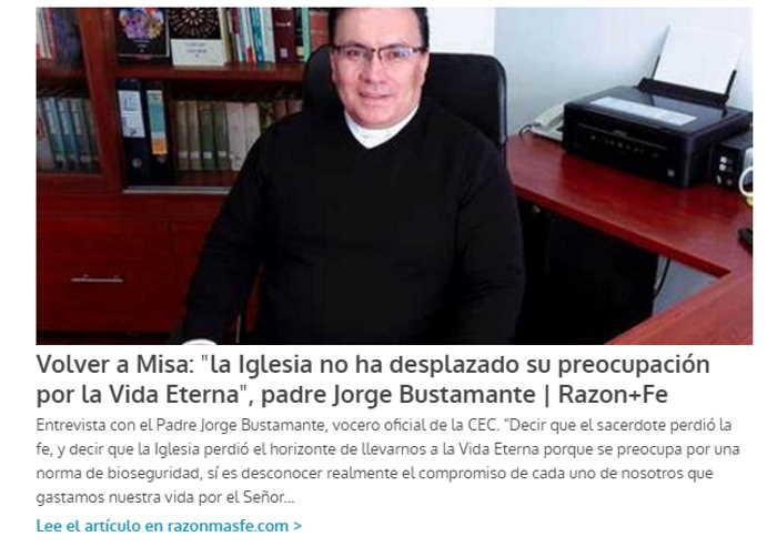 Entrevista Volver a Misa
