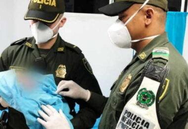 Policía de Infancia rescata a bebé abandonado en Barranquilla