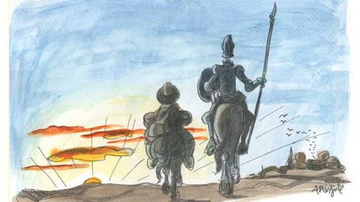 Ilustración de Mingote para «El Quijote»