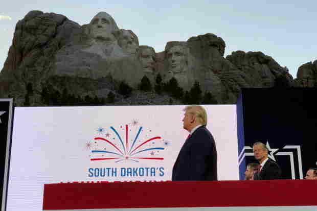 Trump at Mount Rushmore