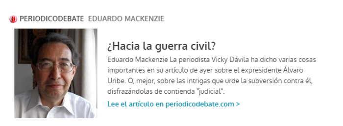 Eduardo Mckenzie Hacia la Guerra Civil