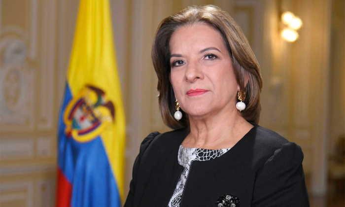 Margarita Cabello en el Ministerio de Justicia de Colombia