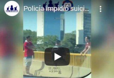 Policia impide suicidio de una mujer