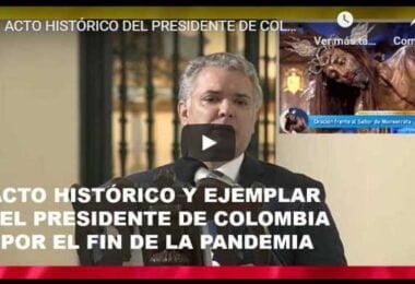 Presidente Duque ora por el fin de la pandemia