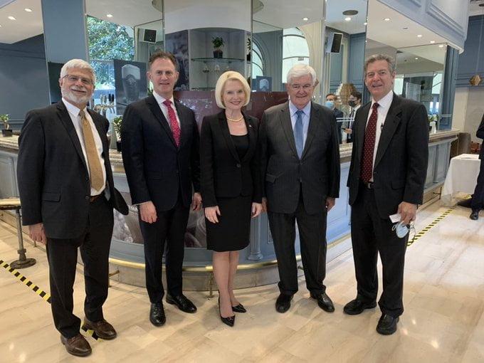 USA diplomatic team at religious freedom simposium