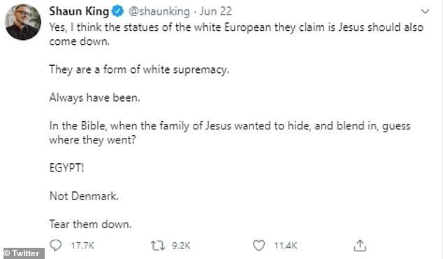 tear them down Shaun King