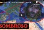 El rostro de Cristo forma la geografia de la Peninsula Iberica