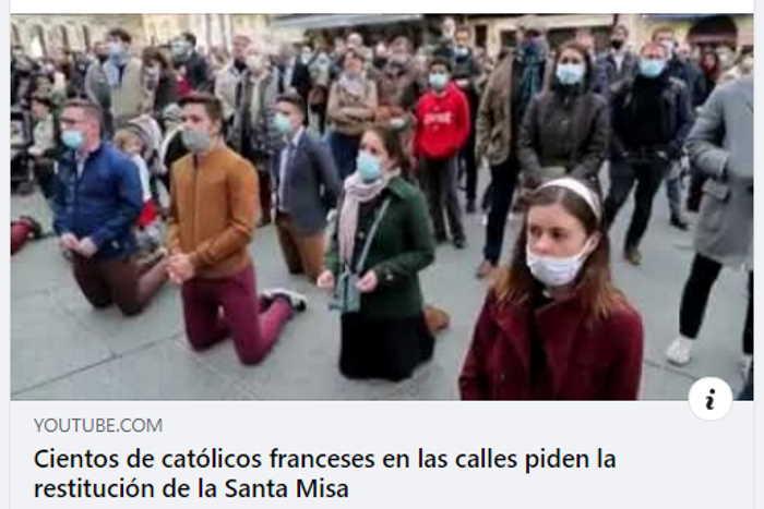 Catolicos franceses piden la restitucion de la Santa Misa
