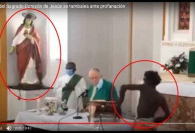 Sagrado Corazon se tambalea ante profanacion de la Sagrada Eucaristia